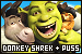 Shrek: Donkey, Puss in Boots and Shrek